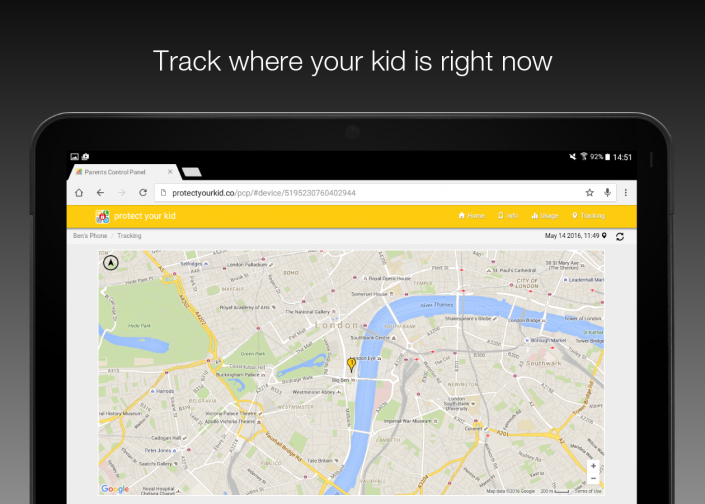 Track where your kid is right now